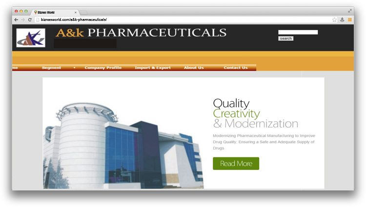 A&k Pharmaceuticals.