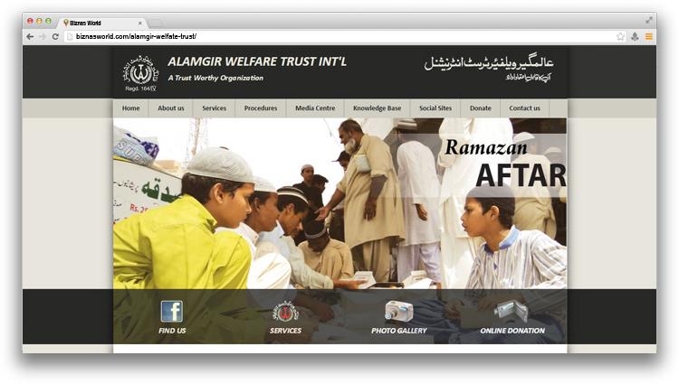 Alamgir welfare trust karachi